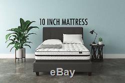 Best QUEEN Size Bed Mattress in Box set Swiss Ortho Sleep 10 Inch Hybrid Foam