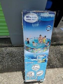 Bestway 10ft x 30 inch Steel Pro Frame Above Ground Swimming Pool Set New on Box