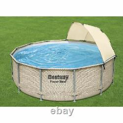 Bestway 13 Ftx42 Inches Power Steel Frame Pool Set with Canopy (Open Box)