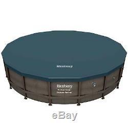 Bestway Power Steel Deluxe Series 14 Foot x 42 Inch Round Pool Set (Open Box)