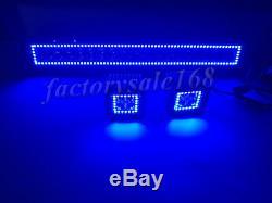 Bluetooth 22 LED Light Bar + 3 CREE Cube Pods & Chasing RGB Halo Ring Strobe