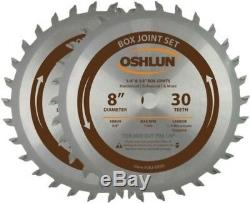 Box Finger Joint Set 2 Piece Professional Grade Cutting Blade Hand Tool 8 Inch