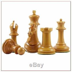 Box wood & Ebony Chess Set with king side stamping King 3' 5\8s inches