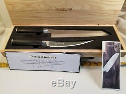 Brand New Kamikoto Kensei Knife Set with Ash box 9.5 Inch Kiritsuke 6.5 Boning