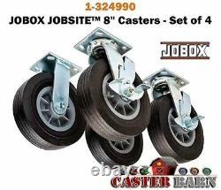 Casterhq Heavy Duty Caster Wheel Set 8 Inch Set Of 4 New In Box