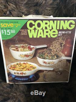 Corningware Spice Of Life Menu-ette Set NEW in ORIGINAL SEALED BOX
