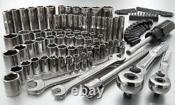 Craftsman 108 Pcs Mechanics Tool Set Socket Wrenches Nut Drivers Ratchet Bits