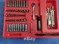 Craftsman Mechanics Tool Box Socket Wrench Set USA 1/4 3/8 1/2 Metric SAE Inch