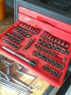 Craftsman Mechanics Tool Set USA Box Socket Wrench 1/4 3/8 1/2 Inch Metric SAE