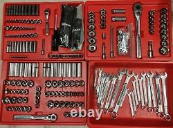 Craftsman Mechanics Tool Set USA Box Socket Wrench 1/4 3/8 1/2 Metric SAE Inch