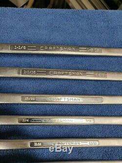 Craftsman USA 11pc Super-tuff Steal Double Box Wrench Set SAE Inch V Ser Vintage