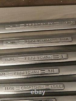 Craftsman USA SAE Double Box End Wrench Set 11pcs Standard Inch Vintage VV
