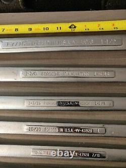 Craftsman USA SAE Large Double Box End Wrench Set 8 Pc 1/2 1-1/2 Inch Vintage