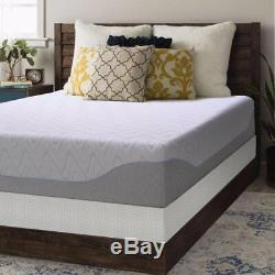 Crown Comfort 11-inch Gel Memory Foam Mattress and Bi-fold Box Spring Set