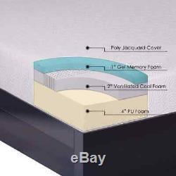 Crown Comfort 7-inch Gel Memory Foam Mattress and Bi-fold Box Spring Set