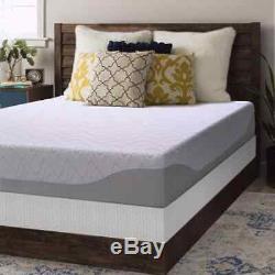 Crown Comfort 9-inch Gel Memory Foam Mattress and Bi-fold Box Spring Set