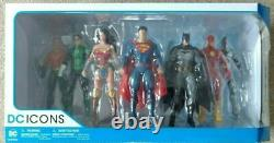 DC Universe Icons Rebirth Justice League 6 inch scaled figure's x7 Box Set