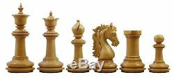 Danum Series 4.4 inch Premium Chess Set in African Padouk Wood and Box wood