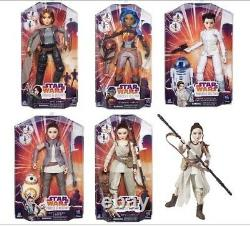 Disney Star Wars Forces Of Destiny Set Lot Of 5 Dolls Figures 11 Inch New In Box