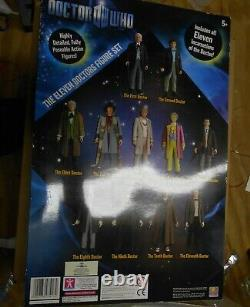 Doctor Who 11 Doctors 5 inch Action Figure Boxed Set Unopened Underground Toys
