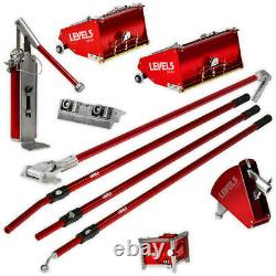 Drywall Taping & Finishing Set with Automatic Taper + 7/10 inch MEGA Flat Boxes