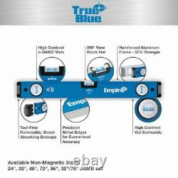 Empire 32 In. And 78 In. Magnetic Box Level Jamb Set True Blue Jamber Tool Free