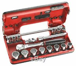 Facom Dtection Box JLDBOX112. PG Ratchet Spanner Set 38 Inches 18 Pieces