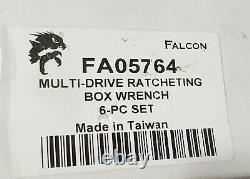 Falcon Multi-Drive Ratcheting Box Wrench inch/mm 6pc set