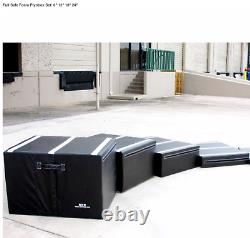 GET RXD Safe Foam Plyometric Jump Boxes 6 12 18 24 Inch Stack Set Gym Fitness