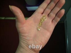 Genuine 1/4 Carat Vvs1 Diamond Set In 14k On Solid 10k Gold 18 Inch Box Chain