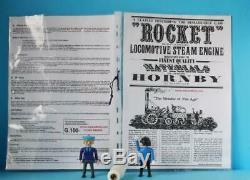 HORNBY G100 STEPHENSONS ROCKET LIVE STEAM SET G GAUGE 3.5 INCH with TRACK BOXED