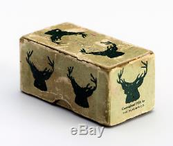 HUGE 1.5 inch set Vintage 1935 Butterscotch BAKELITE Dice with BOX gambling
