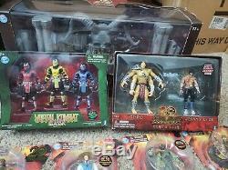 HUGE Jazwares Mortal Kombat 4 inch Lot Sets New In Box Goro's Lair, Kahns arena
