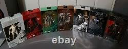 Hasbro Black Series 6 Inch Carbonized Set of 7 Mint in Box
