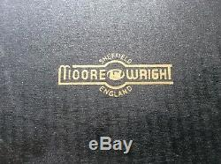 Huge Boxed Moore & Wright Sheffield 16-17 inch Micrometer + Setting Bar In Box