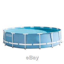 Intex 15 Feet x 48 Inches Prism Frame Pool Set with Ladder, Cover (Open Box)