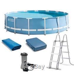 Intex 15 Feet x 48 Inches Prism Frame Swimming Pool Set (Open Box)