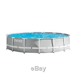 Intex 15 Foot x 42 Inch Prism Frame Above Ground Swimming Pool Set (Open Box)