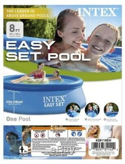 Intex 8 foot X 30 inch Easy Set Above Ground Pool (No Pump) Open Box NEW