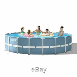 Intex Prism Frame Round 18 Foot x 48 Inch Pool Set with Filter (OPEN BOX)