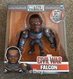 Jada Metals 6 Inch Die Cast Metalfigs M81 Captain America Civil War FALCON New