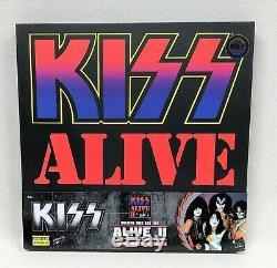 KISS Alive II 3 3/4-Inch Action Figure Concert Lighting Deluxe Box Set Exclusive