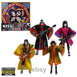 KISS Rock and Roll 3 3/4-Inch Action Figure Deluxe Box Set Exclusive LIMITED