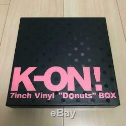 K-ON! 7inch Vinyl Donuts BOX Analog Record Set Limited Edition Japan Mint