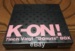 K-ON 7inch Vinyl LP Record Donuts Yui Hirasawa BOX set Limited Edition JP Anime