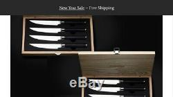 Kamikoto Steak Knife Set 5 Inch Set Of 4 With Bamboo Box