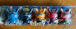 Kidrobot 3 inch Dunny David Horvath Ugly Dolls 2-faced Dunny Set Of 5