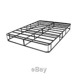King Size 9 Inch Box Spring Mattress Foundation Platform Metal Bed Furniture Set