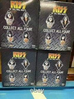 Kiss 10 Inch Wall Busts Complete Set Of 4 Mint In Box Excellent Condition