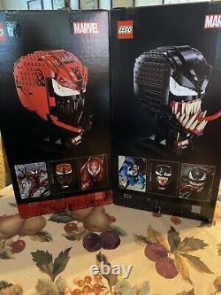 LEGO Marvel Venom 76187 + Carnage 76199 Spider Man Head Sculpt In-Hand